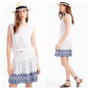 J. Crew Embroidered Gauze Eyelet Mini Skirt